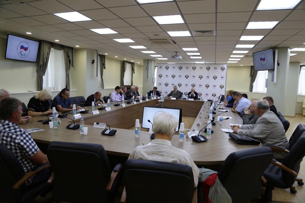 В.П. Лукин в зале Исполкома ПКР провел заседание Исполкома  Паралимпийского комитета России