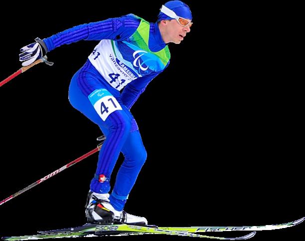 Российский биатлонист с нарушением зрения Н. Полухин занял второе место в мужской спринтерской биатлонной гонке на XI Паралимпийских зимних играх 2014 в г. Сочи