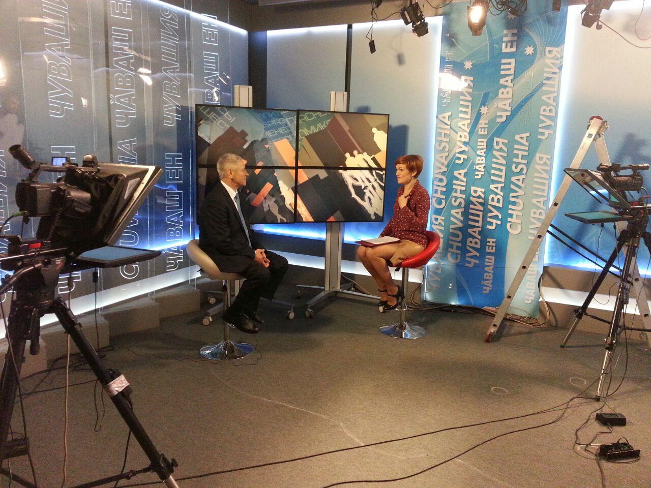 П.А. Рожков в г. Чебоксары (Чувашская Республика) принял участие в съемке телепрограммы «По существу» на Национальном телеканале Чувашии