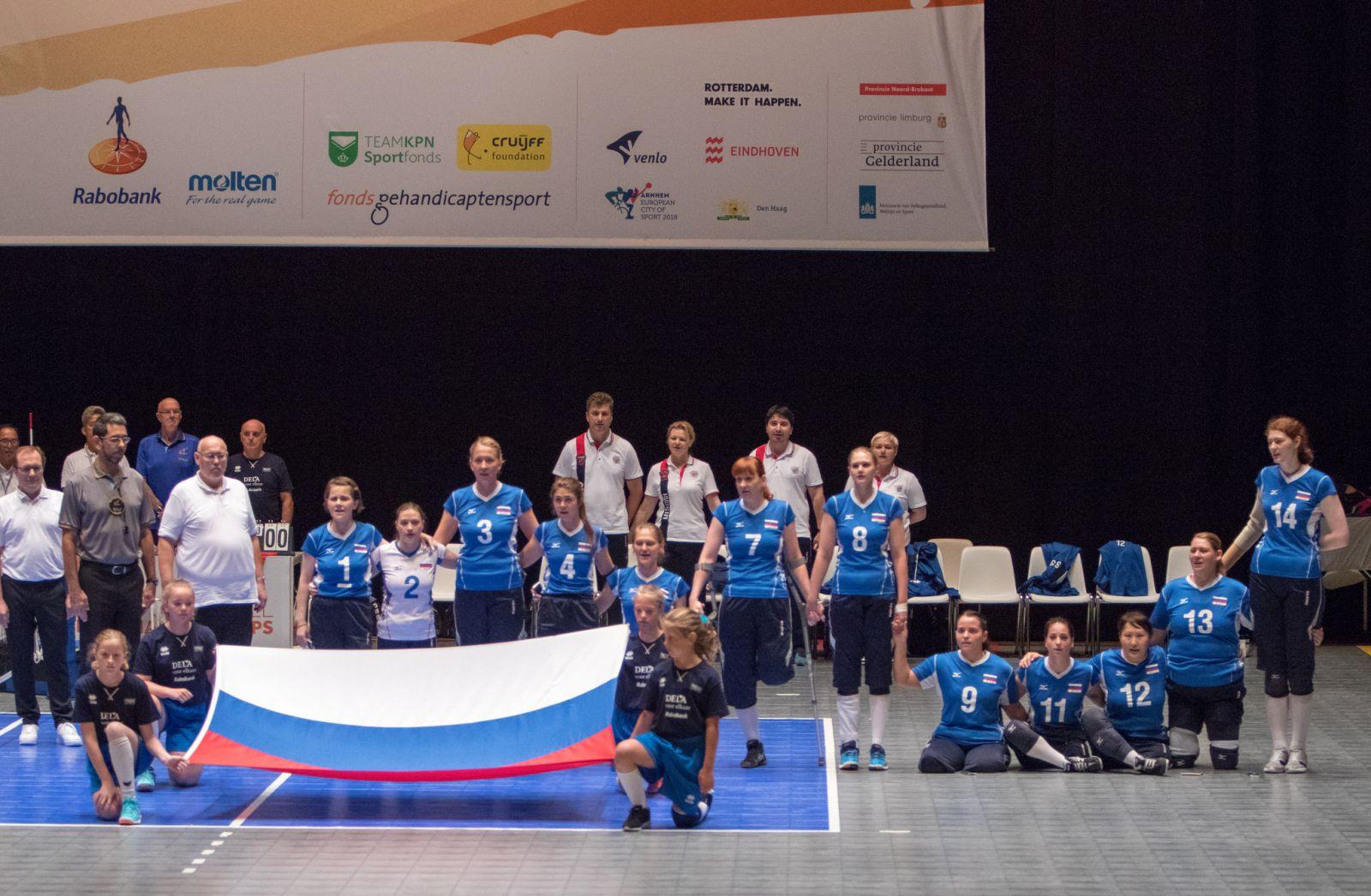 Женская сборная команда России по волейболу сидя вышла в финал  чемпионата мира в Нидерландах
