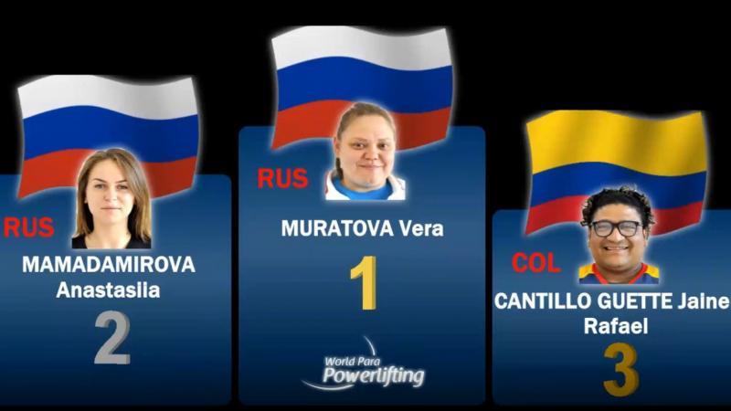 Вера Муратова выиграла финал онлайн-соревнований по пара пауэрлифтингу «Raise The Bar Together»
