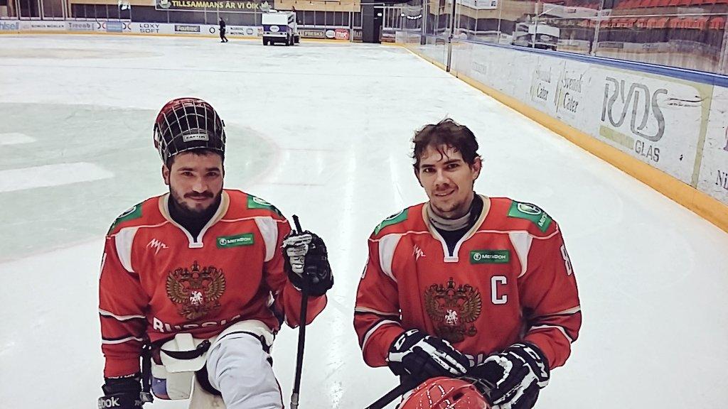Сборная России выиграла третий матч кряду, со счетом 17:0 победив команду Германии на чемпионате Европы по хоккею-следж в Швеции