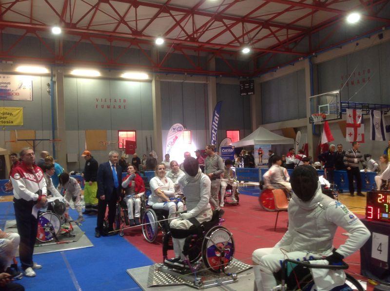 П.А. Рожков в г. Пизе принял участие в просмотре соревнований Кубка мира по фехтованию на колясках