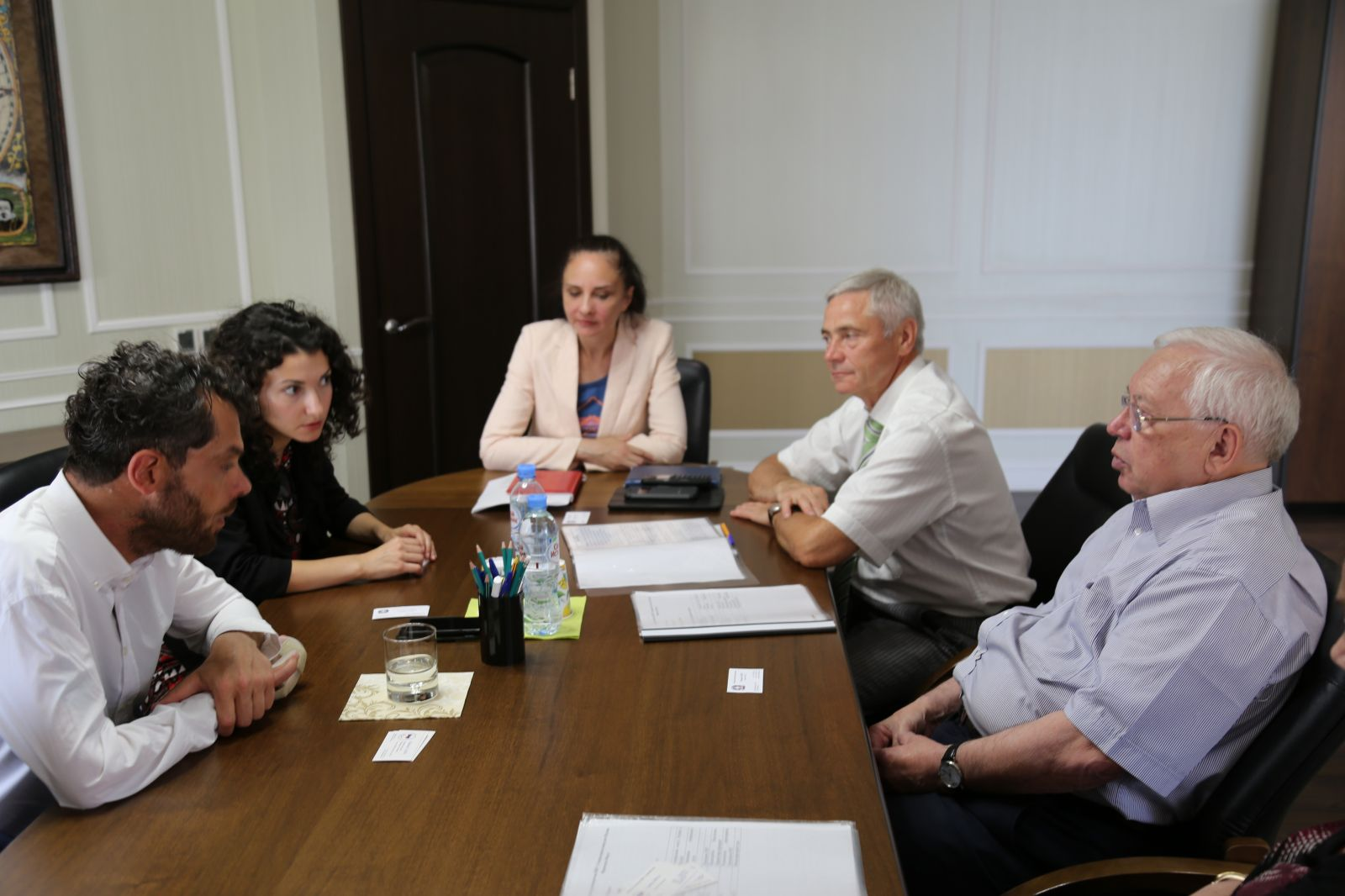 В офисе ПКР состоялась встреча В.П. Лукина, П.А. Рожкова с Генеральным Консулом Италии в России Франческо Форте
