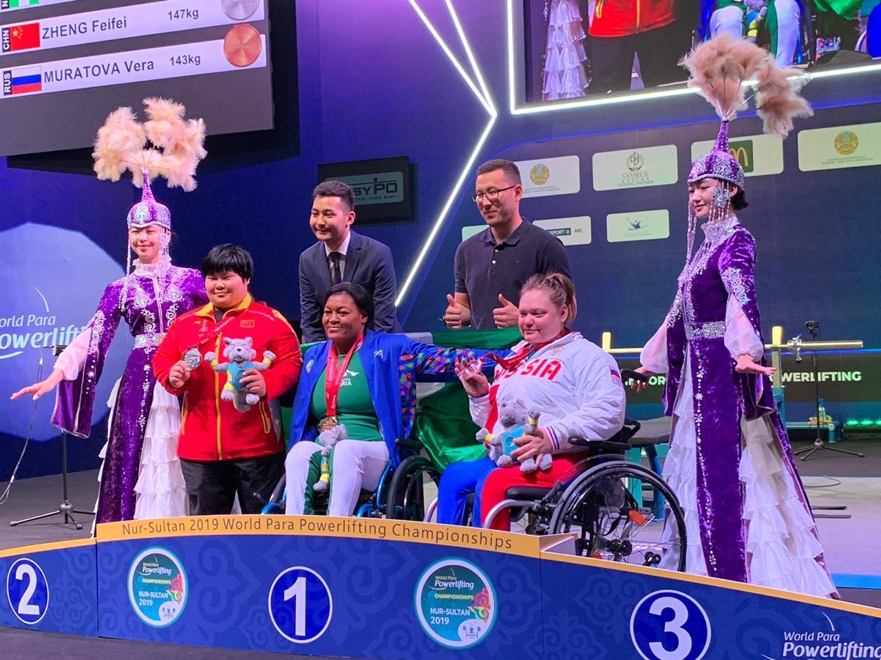 Вера Муратова завоевала бронзовую медаль в шестой день чемпионата мира по пауэрлифтингу спорта лиц с ПОДА в Казахстане