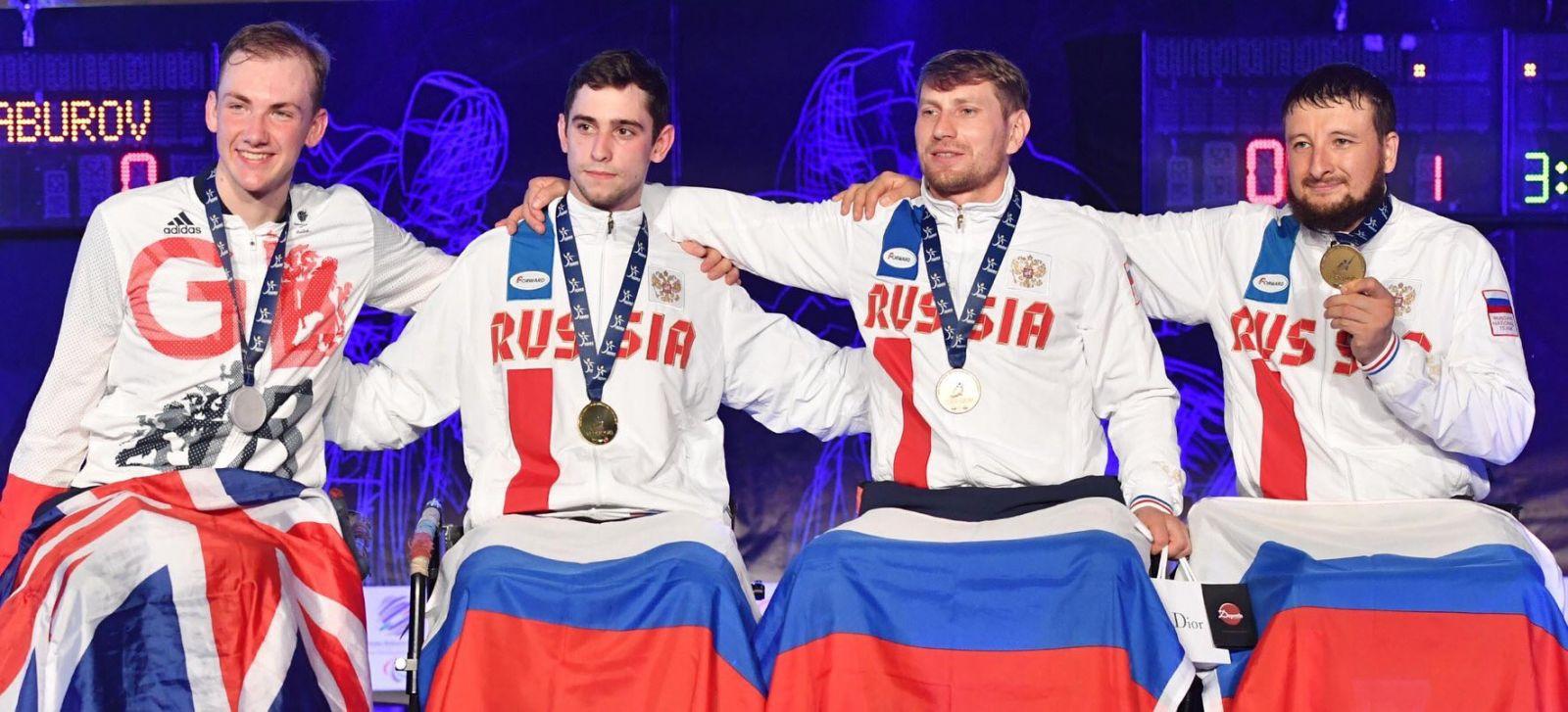 Сборная команда России по фехтованию на колясках завоевала 4 золотые, 2 серебряные и 8 бронзовых медалей по итогам трех дней чемпионата Европы в Италии
