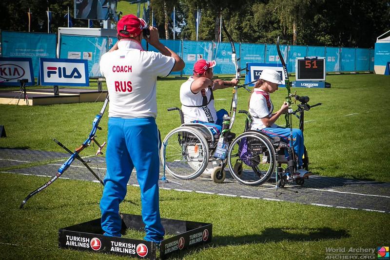 Российские стрелки из лука спорта лиц с ПОДА нацелены пробиться в призовую тройку командного зачета на чемпионате мира в Китае