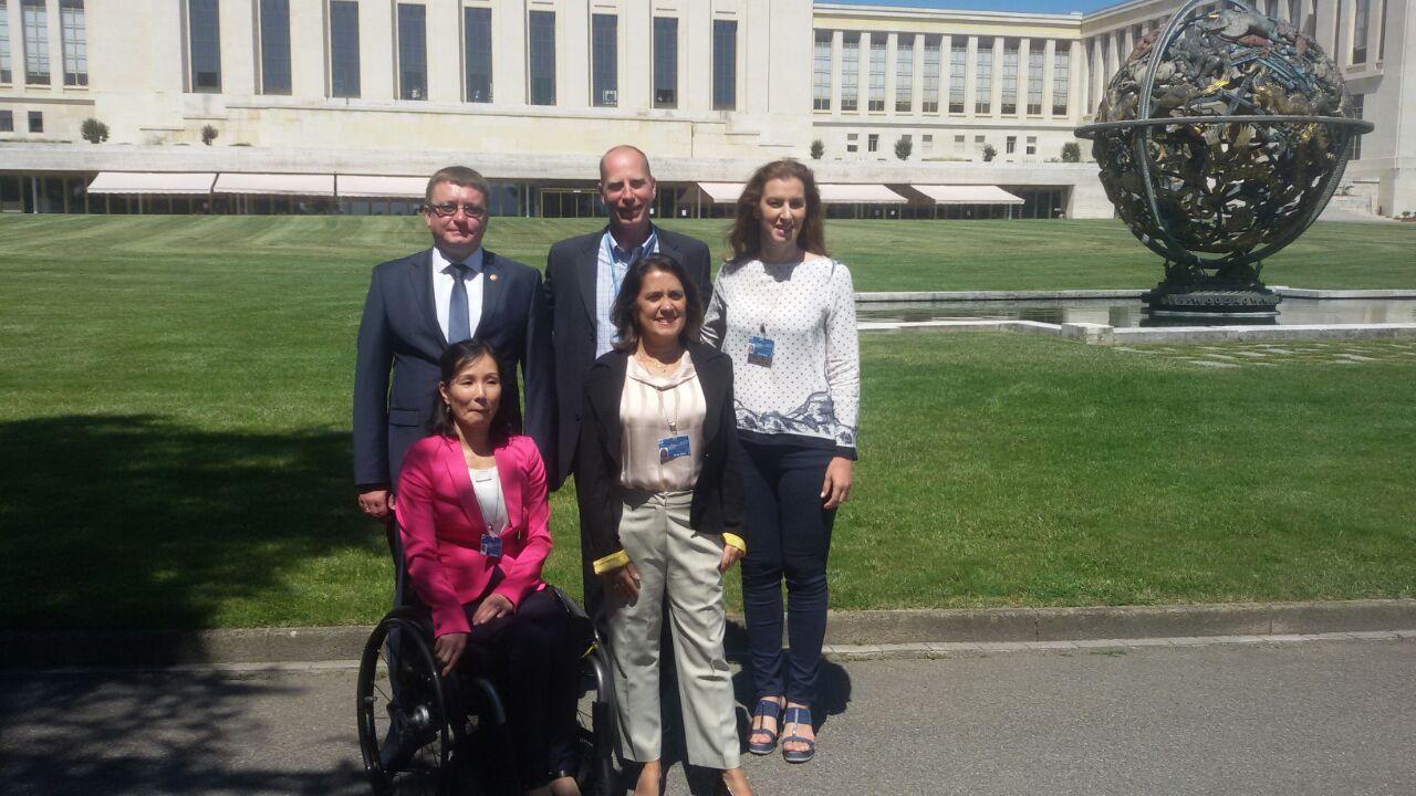 А.А. Строкин в г. Женеве (Швейцария) в рамках 32 Сессии заседания Совета ООН по правам человека принял участие в тематической дискуссии по вопросам использования спорта для продвижения прав человека для всех, в том числе инвалидов