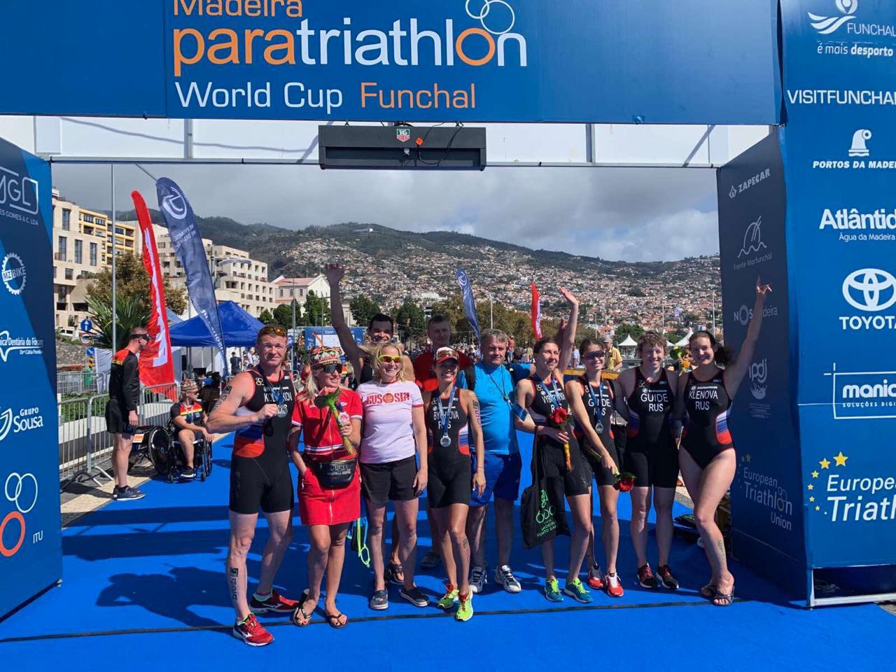 Золотую и 3 серебряные медали завоевала сборная России по паратриатлону на Кубке мира в Португалии