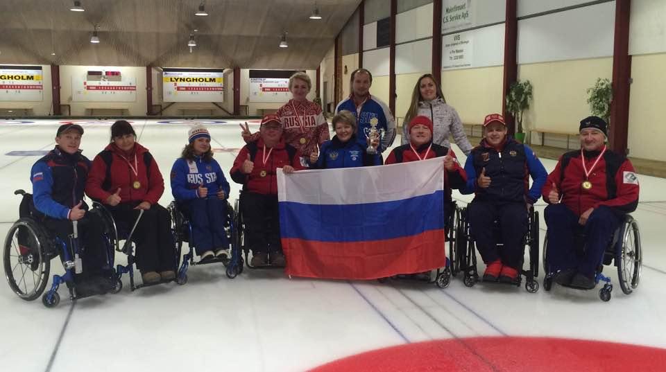 Сборная России по керлингу на колясках стала победительницей крупного международного турнира в Дании