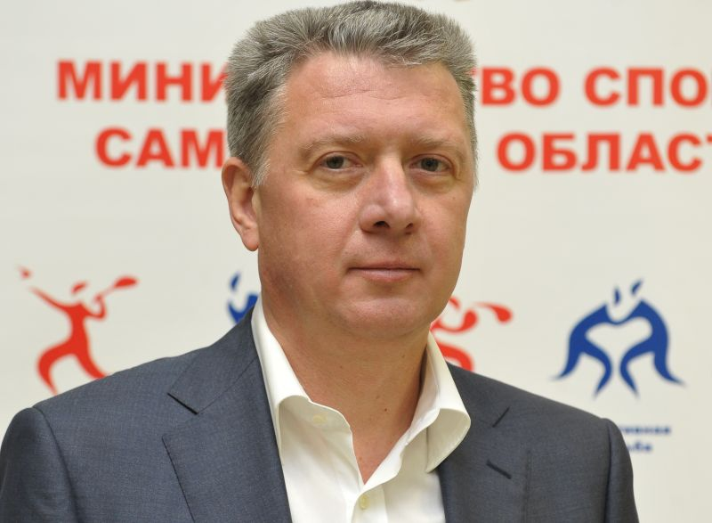 Поздравление президента ПКР В.П. Лукина Министру спорта Самарской области Д.А. Шляхтину в связи с 50-летним Юбилеем