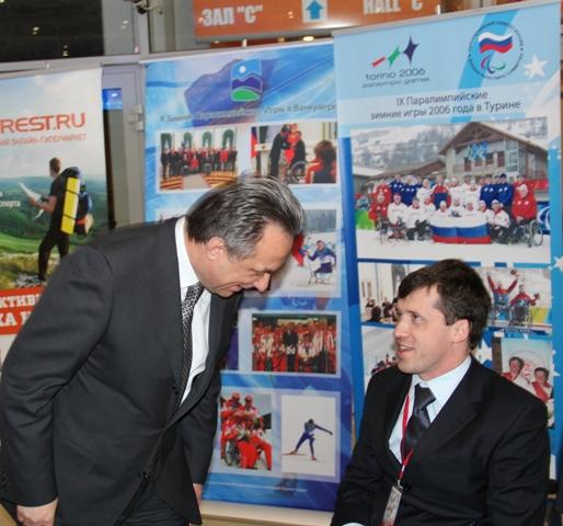 На ВВЦ  состоялось торжественное открытие выставки Минспорттуризма России «Спорт – 12»,  в рамках  которой размещена выставка Паралимпийского комитета России