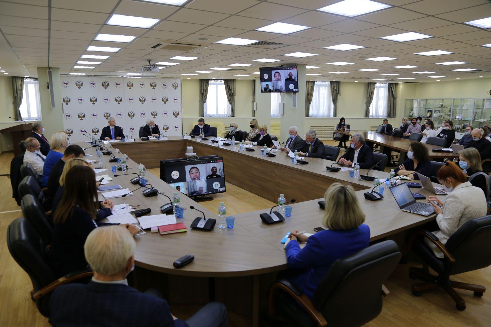 В.П. Лукин в офисе Паралимпийского комитета России провел заседание Исполкома ПКР