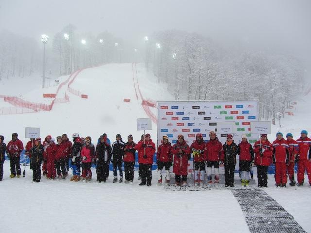 В  г. Сочи состоялось торжественная церемония открытия Чемпионата России по горнолыжному спорту среди спортсменов с поражением  опорно-двигательного аппарата и нарушением зрения