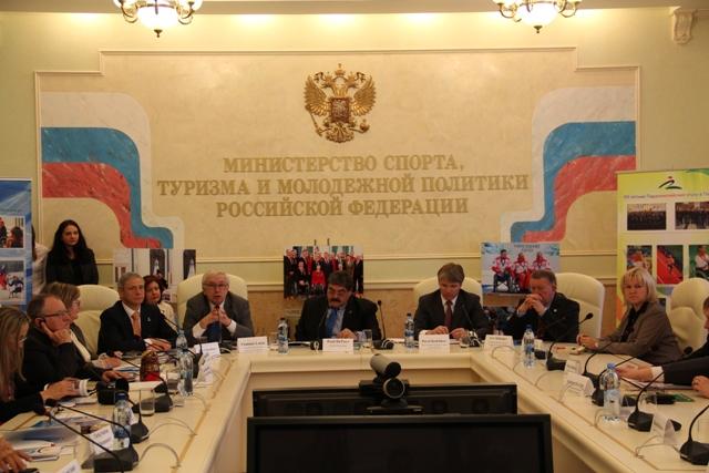 В Конференц-зале Минспорттуризма России состоялось торжественное открытие пленарного заседания Исполкома Международной спортивной  Федерации колясочников и ампутантов (IWAS)