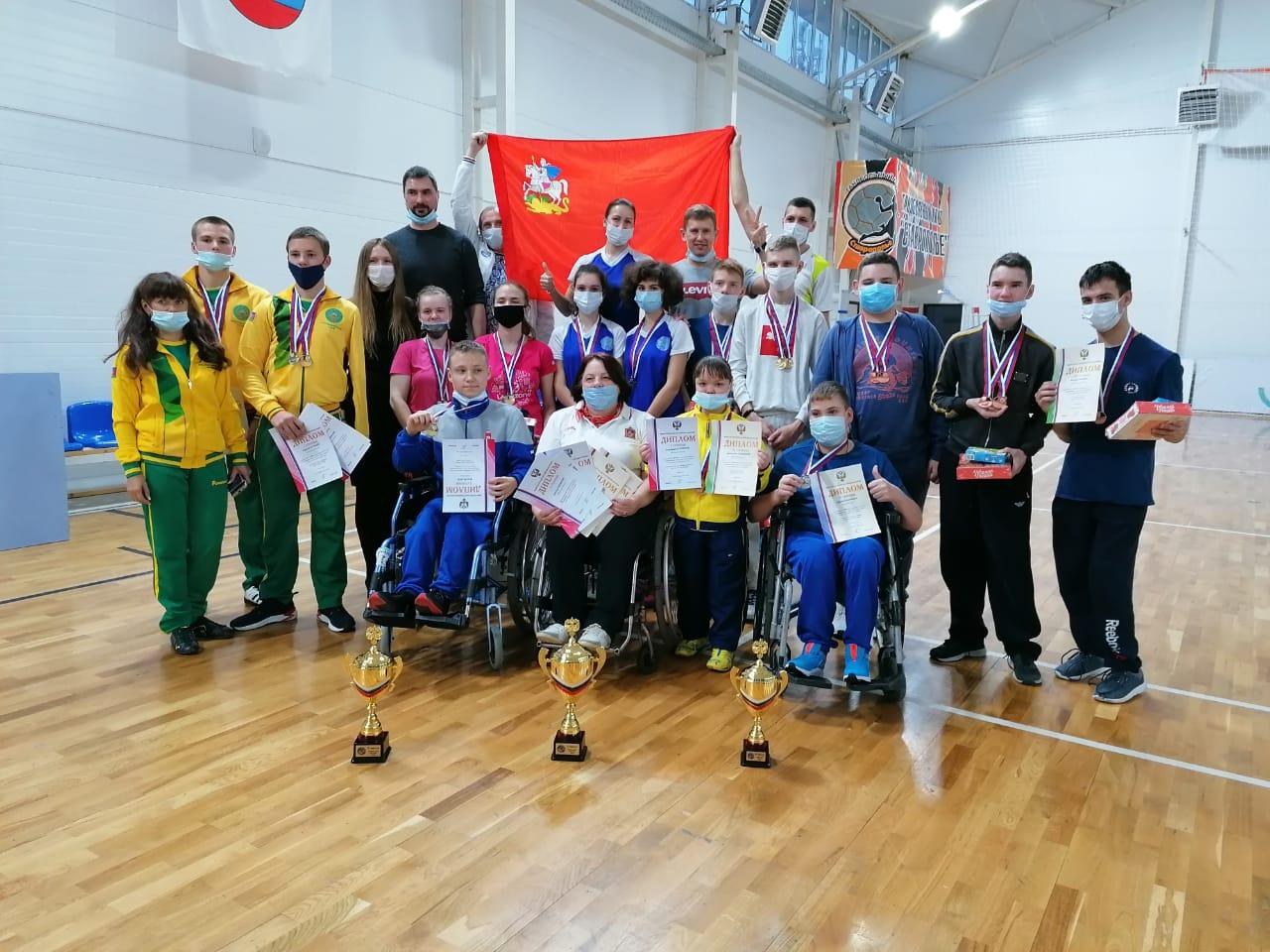 Сборная Московской области выиграла командный зачет первенства России по бадминтону спорта лиц с ПОДА
