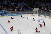 Сборная команда России по хоккею-следж обыграла сборную Италии со счетом 7:0