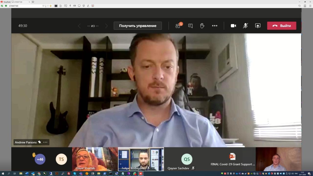 П.А. Рожков принял участие в видеоконференции с президентом МПК Э. Парсонсом
