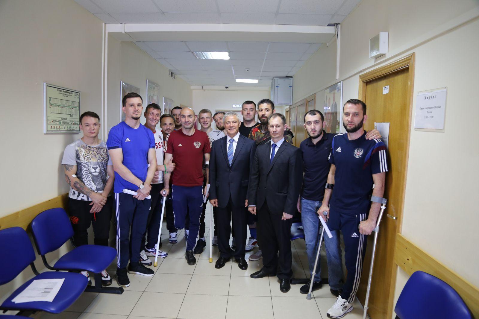 П.А. Рожков встретился со сборной командой России по футболу ампутантов
