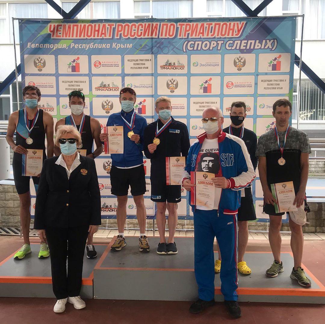 Определены победители чемпионата России по паратриатлону спорта слепых