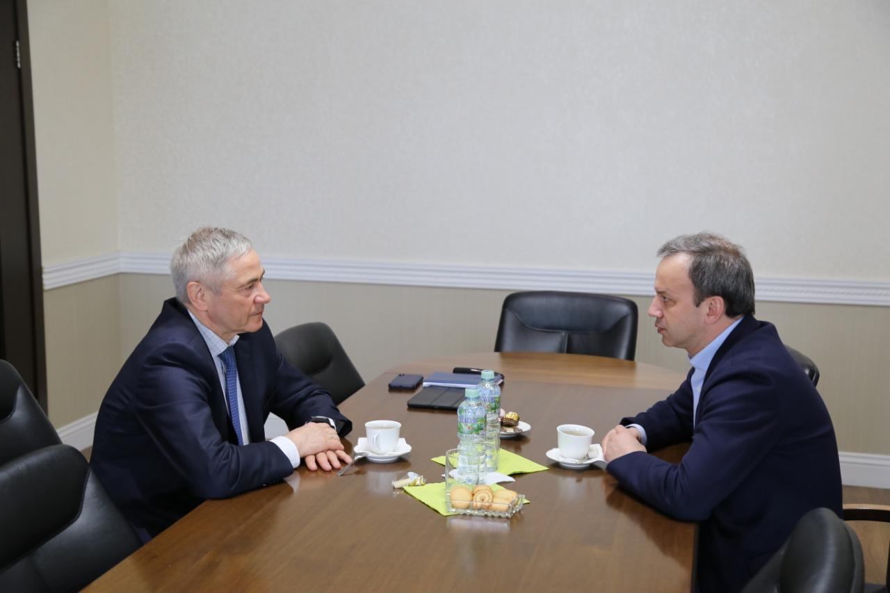 П.А. Рожков в офисе ПКР встретился с Президентом Международной шахматной федерации А.В. Дворковичем