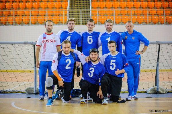 Мужская сборная команда России заняла шестое место на чемпионате Европы по голболу спорта слепых в группе С