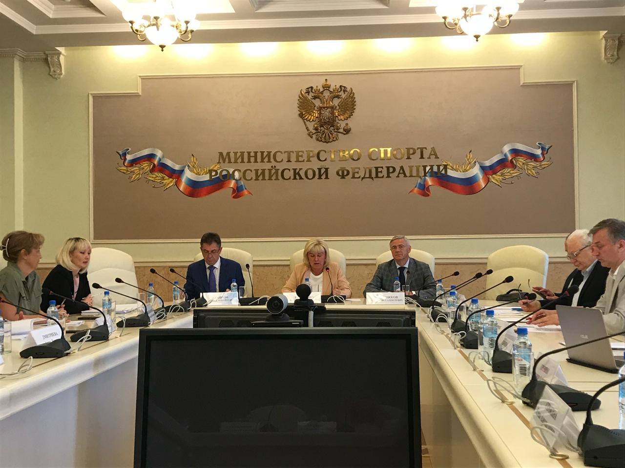 П.А. Рожков принял участие в заседании отраслевой комиссии по регулированию социально-трудовых отношений в сфере физической культуры и спорта