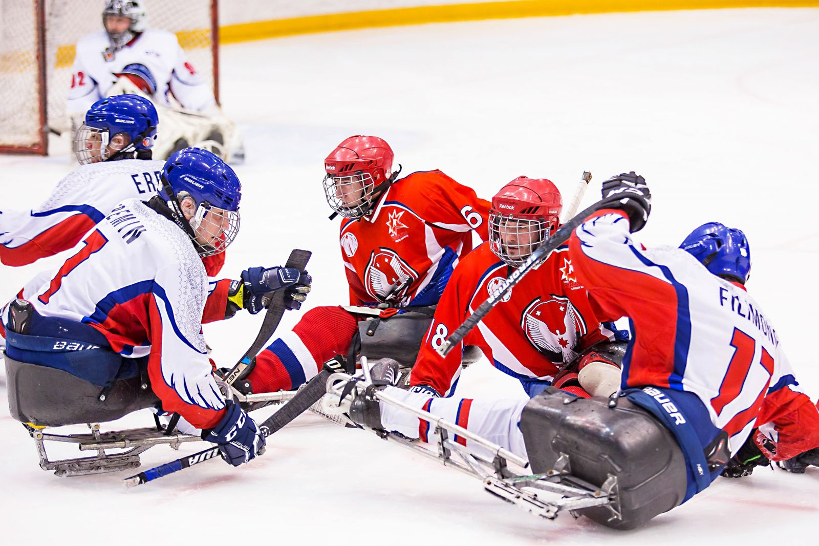 Итоги второго дня первого круга чемпионата России по следж-хоккею в Ижевске