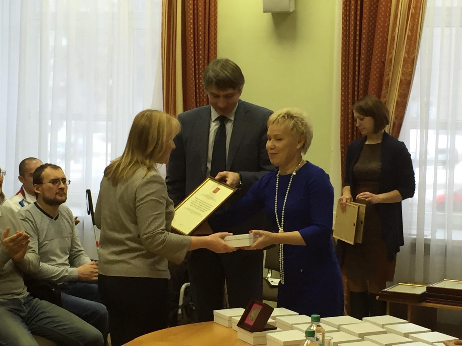 Р.А. Баталова в г. Ижевске (Удмуртская Республика) встретилась с членами паралимпийских сборных команд, спортсменами-паралимпийцами, представляющих регион