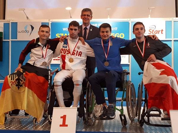 Российские спортсмены завоевали 6 золотых, 3 серебряные и 5 бронзовых медалей на первенстве мира по фехтованию на колясках в Польше