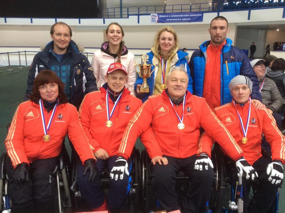 Сборная Москвы стала победителем чемпионата России по керлингу на колясках