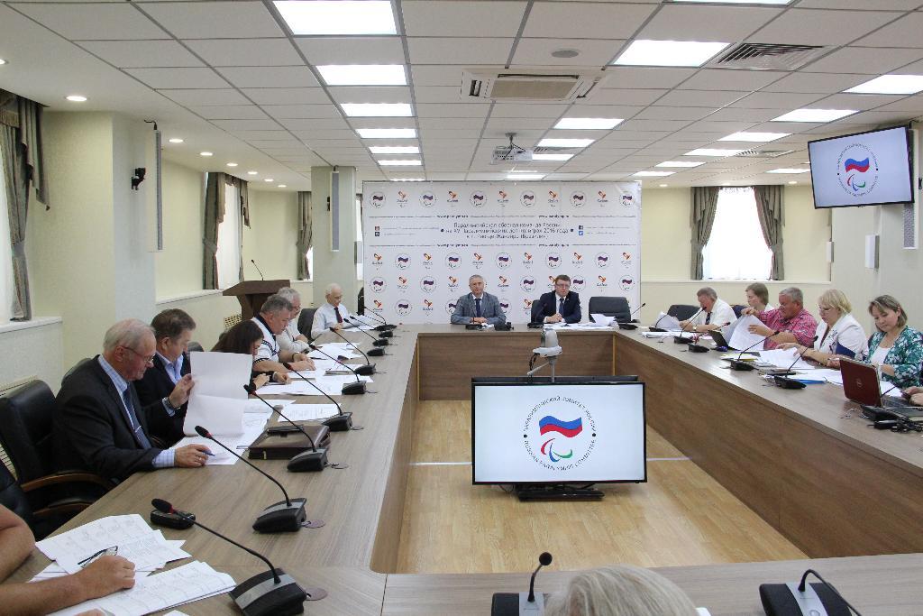 П.А. Рожков и А.А. Строкин в офисе ПКР провели очередное заседание экспертно-согласительной комиссии Рабочей группы по подготовке паралимпийских сборных команд России к участию в XV Паралимпийских летних играх 2016 года в Рио-де-Жанейро (Бразилия)