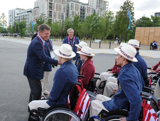 В Паралимпийской деревне в Лондоне  торжественно поднят российский флаг  в присутствии вице-премьера Правительства РФ  Д.Н. Козака