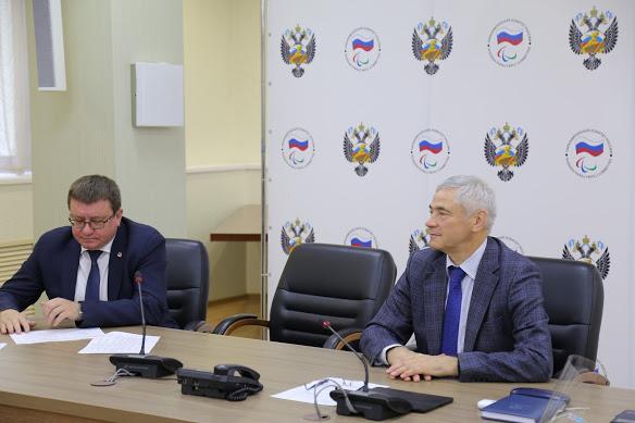 П.А. Рожков в офисе ПКР провел рабочее совещание по вопросам развития следж-хоккея в России