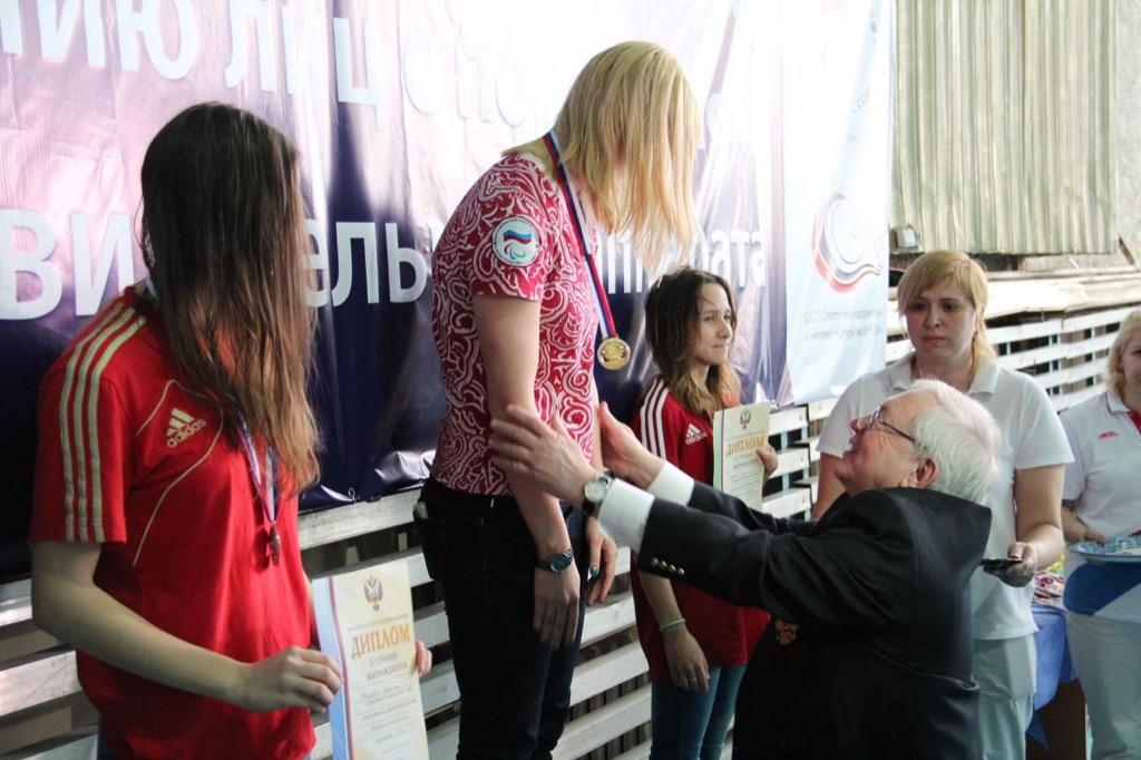В.П. Лукин, А.А. Строкин приняли участие в церемонии награждения победителей и призеров Открытого чемпионата России по плаванию спорта лиц с ПОДА
