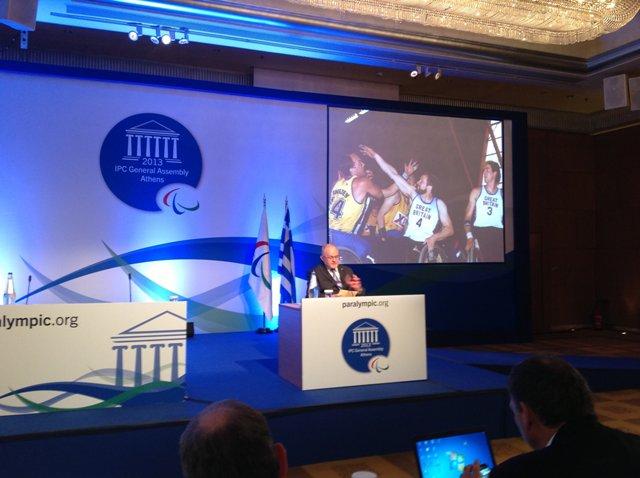 В. П. Лукин  и П. А. Рожков в г. Афинах (Греция) приняли участие в Конференции Международного паралимпийского комитета