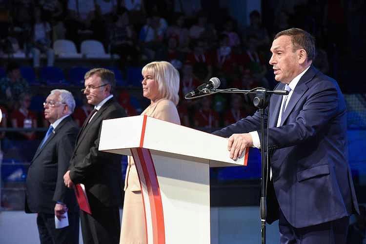 В.П. Лукин и президенты Всероссийских спортивных Федераций по видам инвалидности в г. Йошкар-Оле приняли участие в церемонии открытия III Всероссийской летней спартакиады Инвалидов