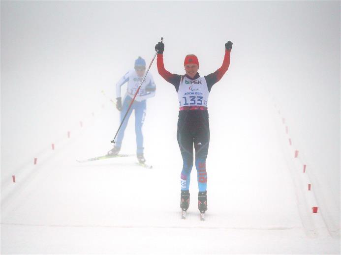 Золотую и бронзовую медали завоевали российские биатлонистки с поражением опорно-двигательного аппарата на дистанции 10 км