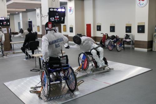 Российские спортсмены ведут борьбу за награды первенства мира по фехтованию на колясках в Нидерландах