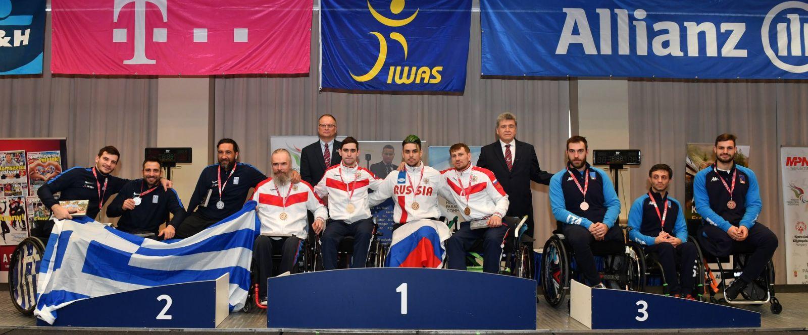 Сборная команда России по фехтованию на колясках выиграла общекомандный зачет 1 этапа Кубка мира в Венгрии